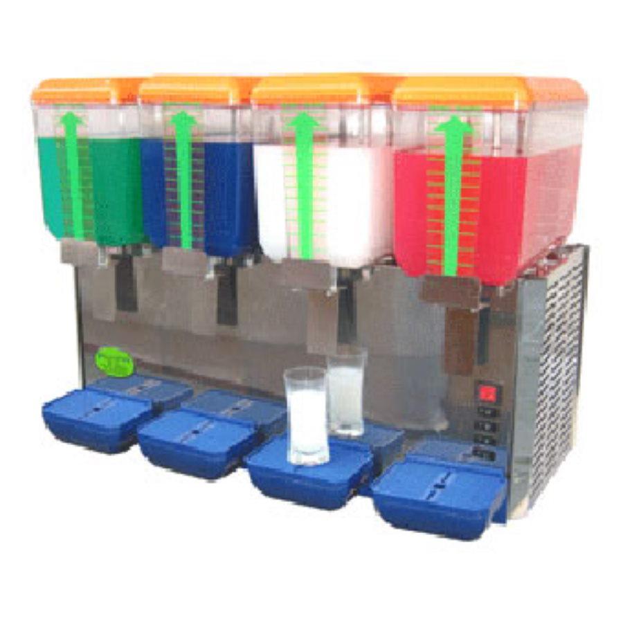 Dozator Elcor 14 Litri pentru băuturi reci, 4 rezervoare