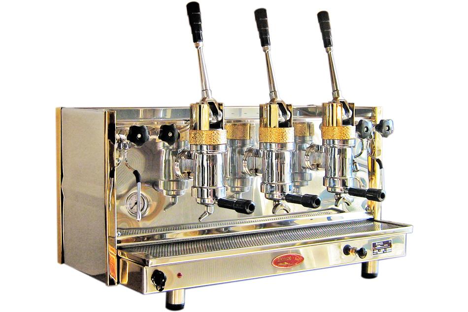 Espressor profesional cu pârghie Bosco Posillipo, 3 grupuri