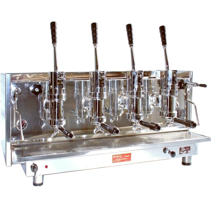 Espressor profesional cu pârghie Bosco Sorrento, 4 grupuri
