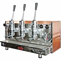 Espressor profesional cu pârghie Bosco Sorrento, 3 grupuri