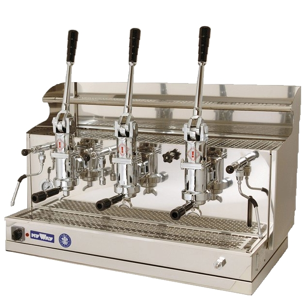 Espressor profesional cu pârghie Izzo MyWay Pompei, 3 grupuri